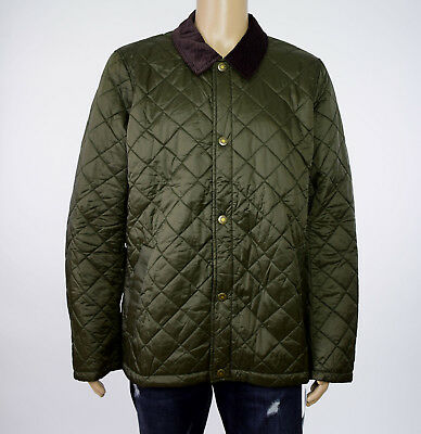 Barbour Mens Olive Green Holme Quilted Lightweight Jacket XXL 2XL