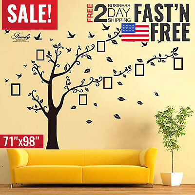 Family Tree Wall Decal Stickers Large Art Vinyl DIY Branch Mural Home Decor
