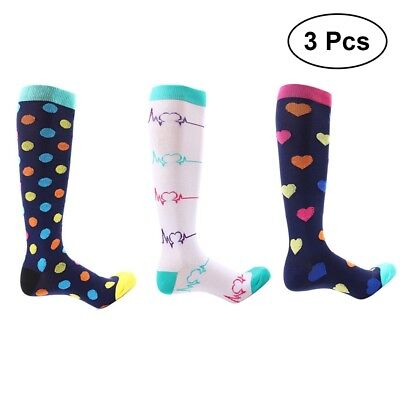 Compression Socks For Women Men 21-59CM Medical Nursing Travel Sports S-XL 3Pair