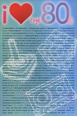 I Love the 80s Greatest Quotes Movie Poster Print 61 x 91cm Wall Decor Home