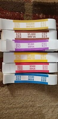 600 Self Sealing Currency Straps  Money Bill Bands Strap Pmc Company Brand