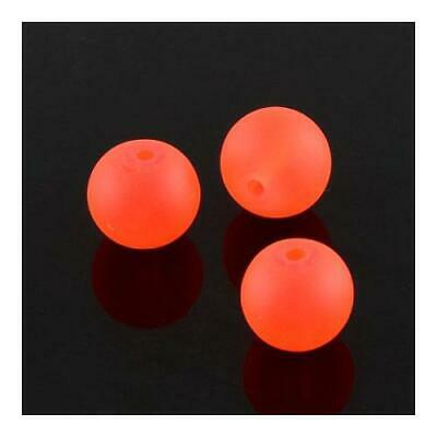 Strand 195+ Orange Glass 4mm Frosted Plain Round Beads Y05560