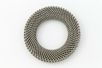 36mm Matte Silver Textured Ring Link #MFB176