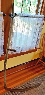 "Antique Vintage 29"" long Blade Sickle Scythe Farm Halloween Decoration"