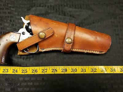 VINTAGE BRAUER BROTHERS Leather Holster Ruger Single Six Action 22 Pistol  H30