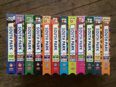 South Park VHS Vol. 1-12 Collection RHINO COMEDY CENTRAL RARE OOP NEW SEALED