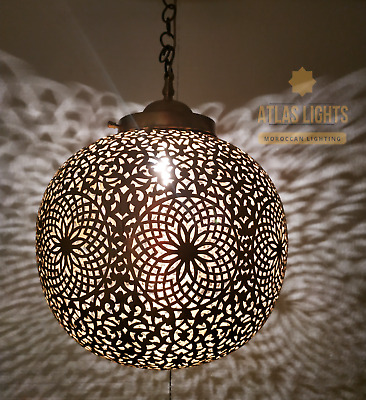 Moroccan Pendant Light Brass Antique Vintage Lamp Hanging Chandelier Ceiling Diy