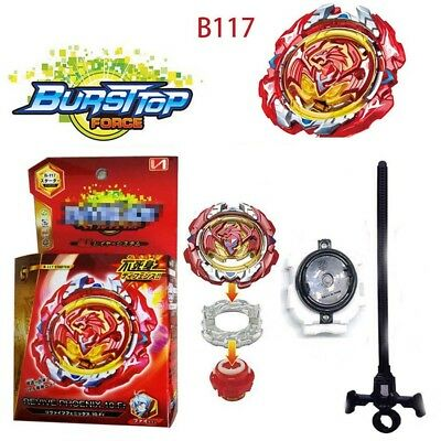 Beyblade Burst B-117 Starter Revive Phoenix.10.Fr Launcher Toy + Grip New in Box