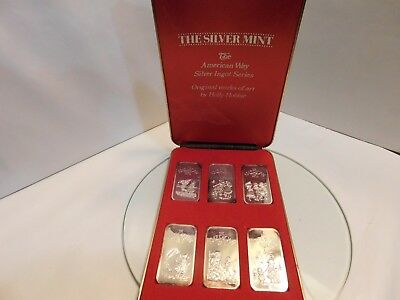 1974 The Silver Mint Holly Hobbie American Way 6 Ingot Set Silver Art Bars