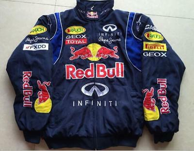 fa9d9368dcc Car enthusiasts redbull black embroidery cotton padded Jacket F1 team racing