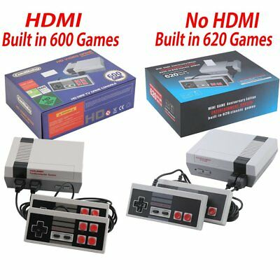 HDMI Mini Vintage Retro TV Game Console Built-in 600/620 Games 2 Gamepad US