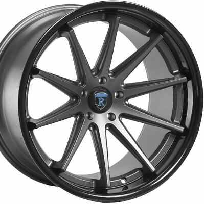20 Staggered Rohana Rc10 20x9 20x10 Black Concave Wheels Rims