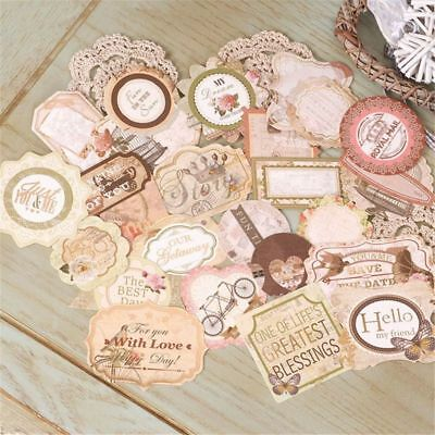 25pcs Colorful Vintage Stickers DIY Scrapbooking Craft Handmade Paper Card Make