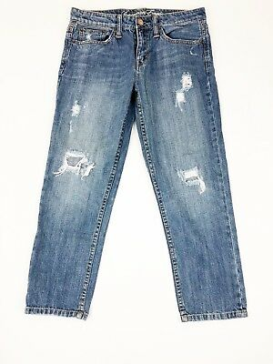 American Eagle Outfitters Jeans 4 Blue Destroyed Distressed Stretch - Free Gift