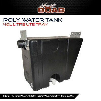 Poly Water Tank 40 Lt Ute Tray Utility 4X4 4WD Offroad Camping Touring
