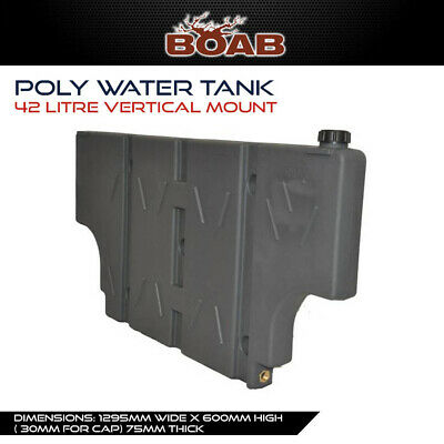 Poly Water 42L Vertical Mount Tank with Wheel Arch Cut Outs 4X4 4WD Ute Offroad