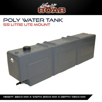 Poly Water 55 Lt Tank Ute Mount Utility 4X4 4WD Offroad Camping Touring