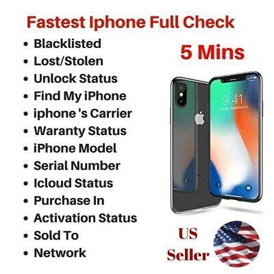 24/7 FAST IPHONE imei check Icloud FMI Blacklist Unlock Lost Ipad Macbook