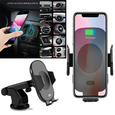 C10 QI Infrared Induction Ventilation Car Phone Charger For Iphone XS X 8 Plus