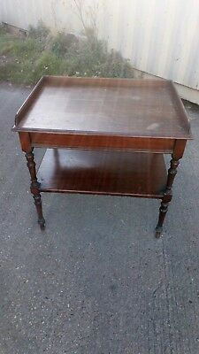 Antique Mahogany Writing Console Table