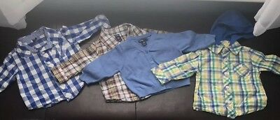 Baby Boys 3-6 Months LOT~Long Sleeve Button Down Shirts |Cardigan| GAP| OLD NAVY