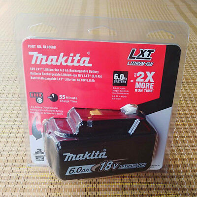 Brand New Genuine  Makita 6.0AH 18 Voit BL1860B Original  Li-ion battery