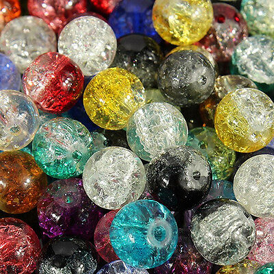 4/6/8/10/12mm Mixed Crystal Round Glass Beads Jewelry Making Spacer DIY Crafts