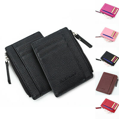 Women Mini Wallet Zipper Card Holder Coin Purse Leather Clutch Bag Handbag AU