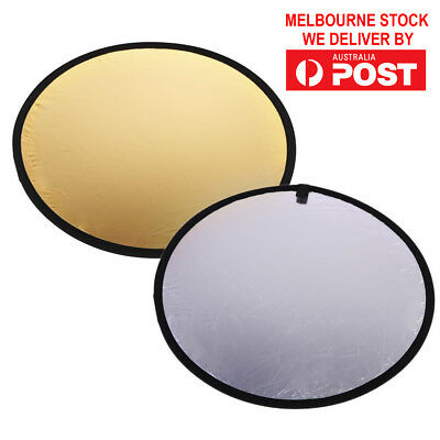 60CM 2 in 1 Round Portable Collapsible Photography Light Reflector for Studio