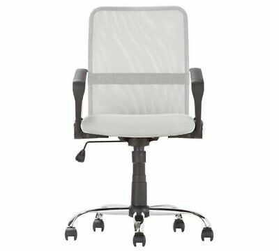 Mesh Gas Lift Mid Back Adjustable Office Chair - Grey