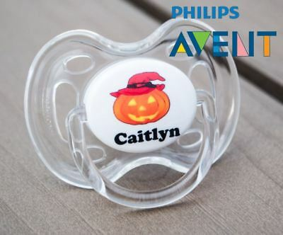 PHILIPS AVENT PERSONALISED DUMMY, SOOTHER, PACIFIER, 0-6mths, HALLOWEEN HAT
