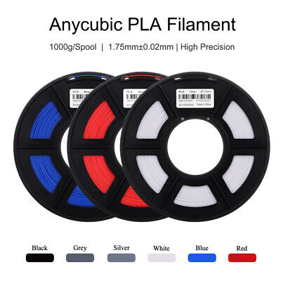 ANYCUBIC 1.75mm PLA Filament Plastic Material Spool 1KG for Prusa I3 Mega Chiron