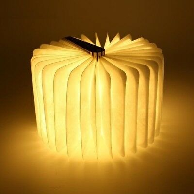 Magic Unfolding Book Lamp - USB Rechargeable Wooden Book LED Light