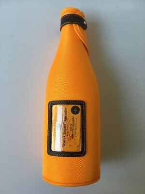 # VEUVE CLICQUOT CHAMPAGNE BOTTLE COOLER Sleeve Insulator Carrier Yellow - NEW