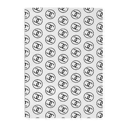 Coco Chanel Black White Kitchen Worktop Protector Saver Glass Chopping Board