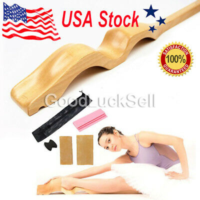 Wooden Ballet Dance Foot Stretch Stretcher Arch Enhancer with Elastic Band USA