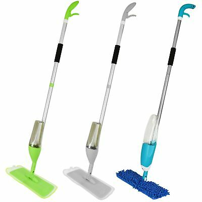 Spray Mop Water Spraying Wooden Floor Cleaner Tiles Microfibre Marble Kitchen