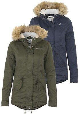 864b3b69d08375 Only Damen Jacke Onllorca Short Canvas Parka | Fell Kapuze warm winter  Jacket