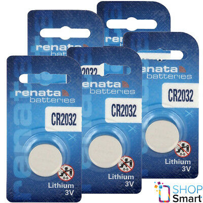 5 Renata Cr2032 Lithium Batteries 3V Cell Coin Button Dl2032 Exp 2025 New