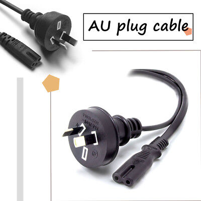 New 1pc Durable 2 Pin Core Figure 8 IEC-C7 AC Power Cord Cable Lead Plug AU