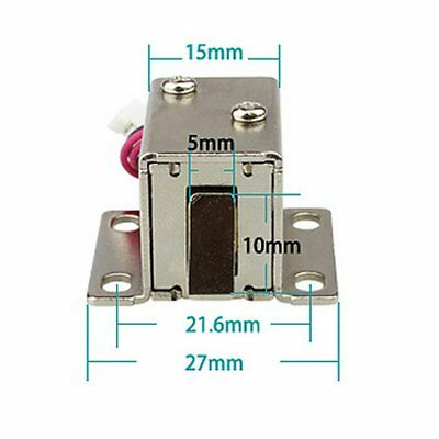 DC 12V File Display Cabinet Drawer Latch Assembly Solenoid Electric Lock 3W