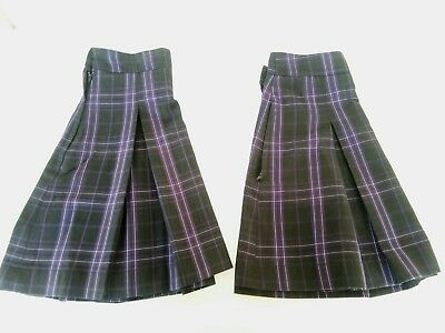 Girls School Uniform Skirt (2 peices), Black and Purple Tartan, size 10. Cosplay