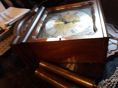 Vintage Ridgeway Pendulm Wall Clock Made in Germany Heavy Weights Fine Quality