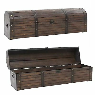 Vintage Style Large Wooden Storage Chest Solid Wood Box Case Living Room Hallway