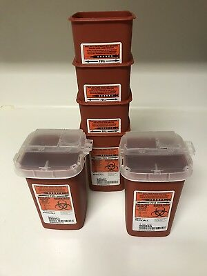 Kendall Sharps Container Biohazard Needle Disposal 8900SA With Lids, 1 Lot Of 48
