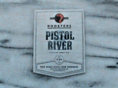 Roosters Pistol River real ale beer pump clip sign
