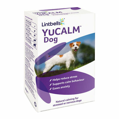 Yucalm Tablets For Dogs 30 Pack Stressed Pets Supplement Natural Calming