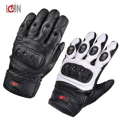 Mens Waterproof Thermal Winter Knuckle Motorbike Motorcycle Leather Gloves