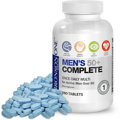 Bronson ONE Daily Men?s 50+ Complete MultiVitamin MultiMineral, 180 Tablets