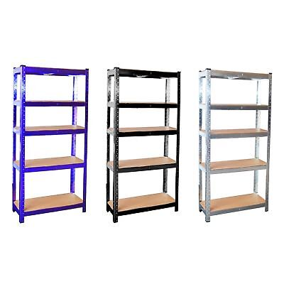 Heavy Duty 5 Tier Galvanised Steel Garage Shelving Racking Unit Storage Racks